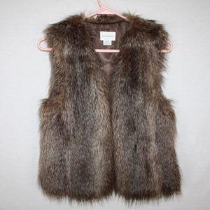 XS Club Monaco Faux Fur Vest